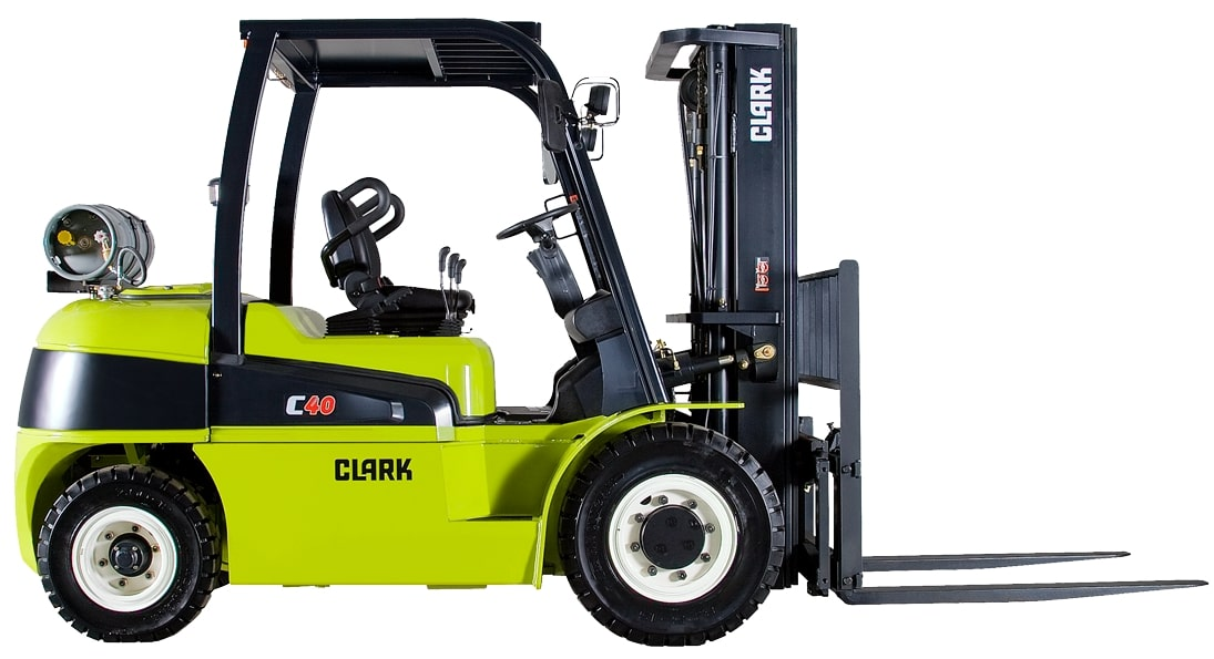 Diesel Clark 2183 fork lift with pneumatic drive tires